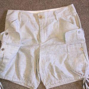 Banana Republic Shorts - Banana republic heritage cargo shorts stripe linen
